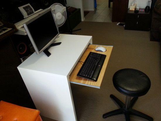 Ikea Micke Desk With Keyboard Tray Ikea Hackers Micke Desk Ikea Hack Ikea Micke Desk