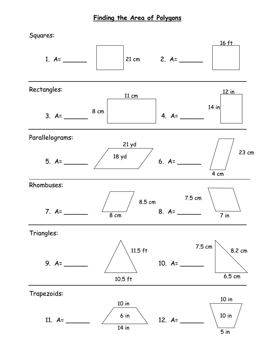Finding the Area of Polygons.pdf - Google Drive   Teaching geometry [ 1240 x 958 Pixel ]