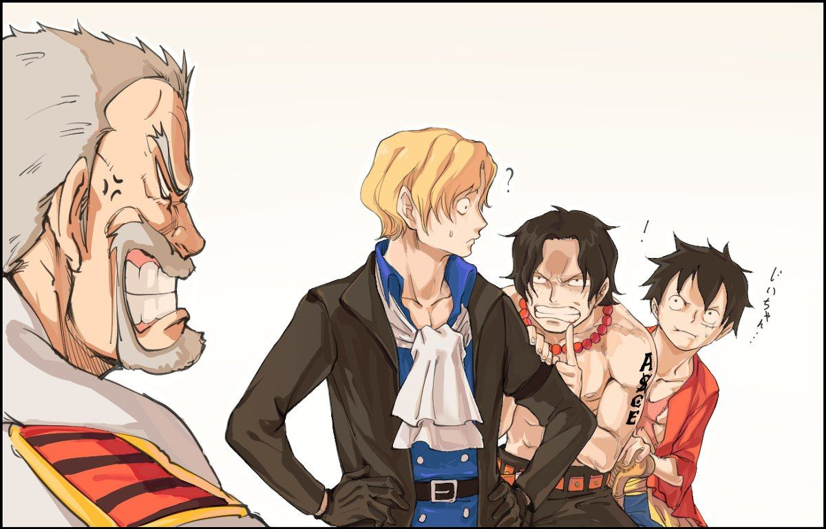 Monkey D  Garp, Portgas D  Ace, Sabo and Monkey D  Luffy Não