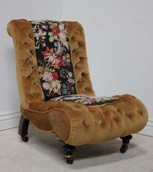 Victorian Antique Slipper Chair - Victorian Antique Slipper Chair Slipper Chair Pinterest