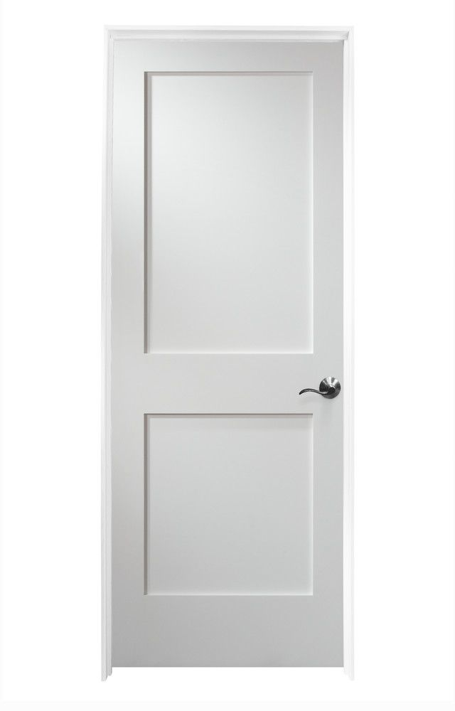 Interior Doors Pre Hung Shaker Collection Painted White Mdf 30 Left Doors
