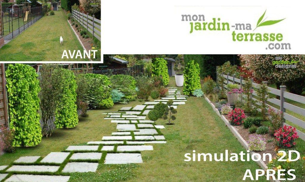 Comment am nager son jardin en longueur all e escalier pinterest am nager son jardin - Amenagement jardin en longueur ...