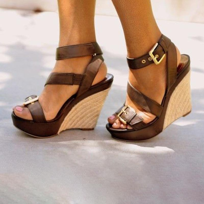open toe wedges for work