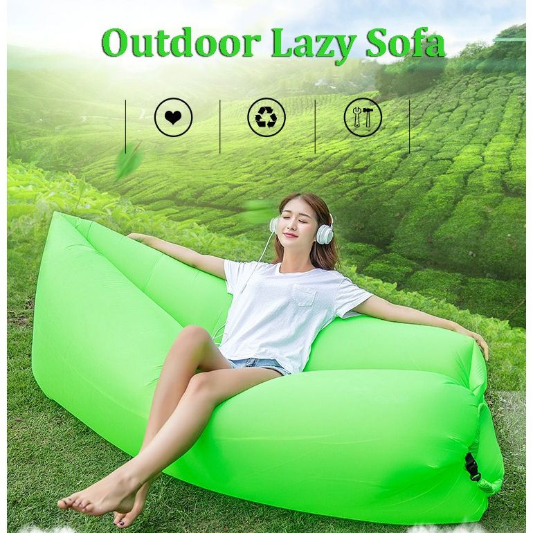 Travel Beach Lazy Sofa Fast Air Inflatable Sleeping Bed