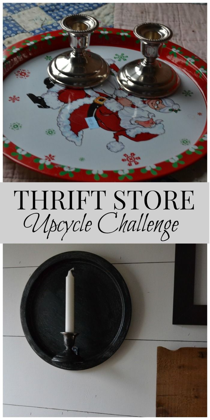 Thrift Store Upcycle Decor Challenge Farmhouse Wall Sconce