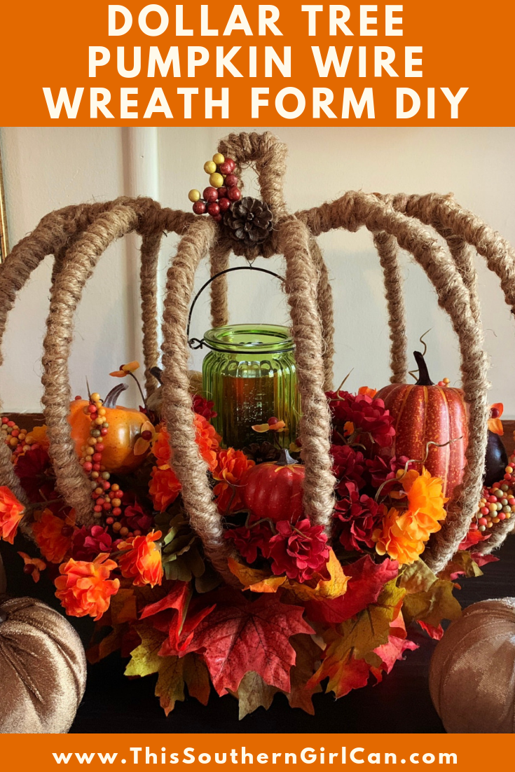 Make this beautiful Fall flower arrangement using Dollar