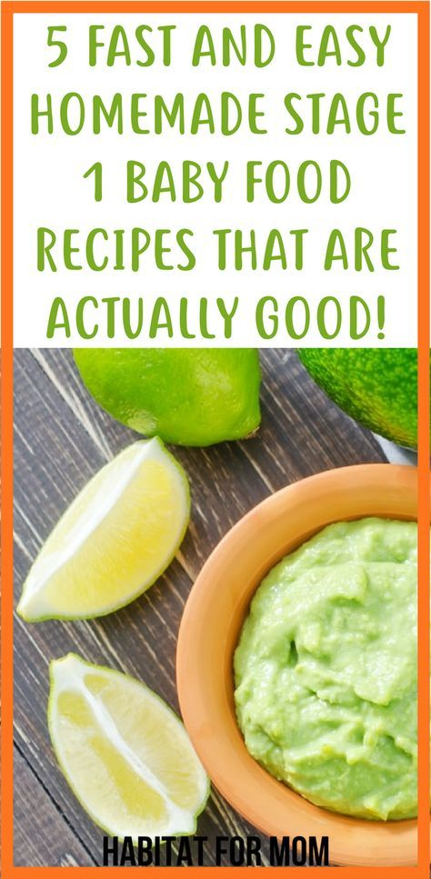 5 Easy Stage 1 Homemade Baby Food Recipes 4 - 6 Months
