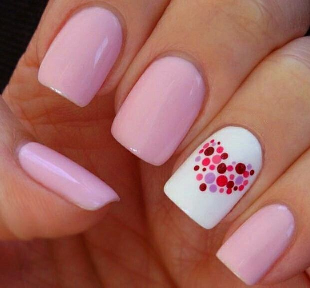 Rosado pastel nails pinterest nail nail and image on we heart it prinsesfo Image collections