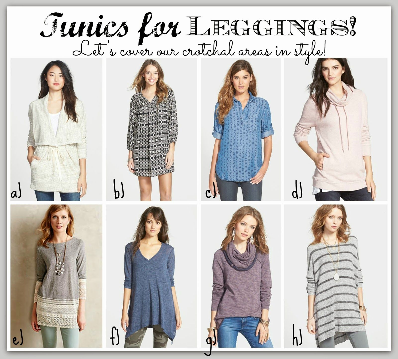 02c6f4966283 This post has LOTS AND LOTS of great ideas for tunics that are great with  jeans AND are long enough to wear with leggings!