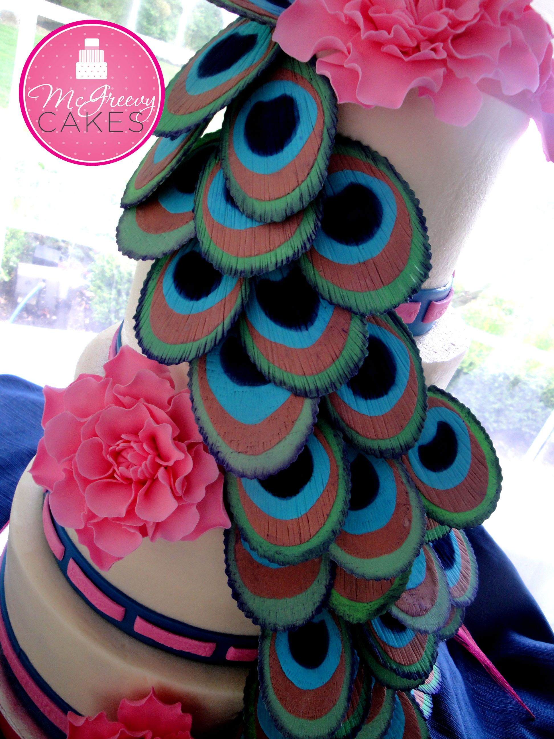 Fondant Peacock Feather Tutorial Peacock feathers Fondant and