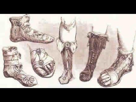 Modelos de diferentes sandalias