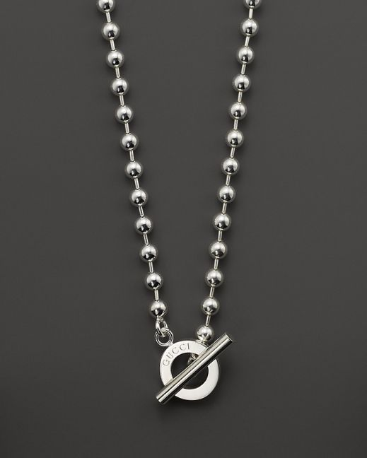 Gucci Boule Sterling Silver Circle Necklace, 17
