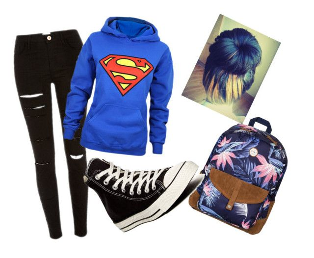 """Bored af in school"" by kirra-joy-brooks-02 ❤ liked on Polyvore featuring Roxy and Converse"