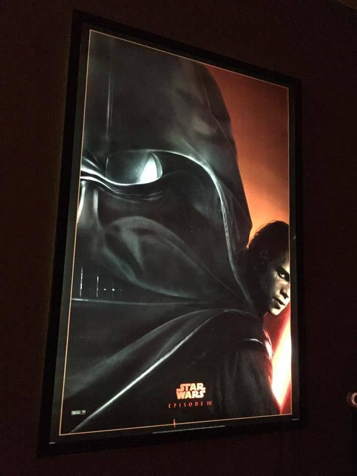 Slim Black Movie Cinema LED Light Box Poster Frame + Star Wars DS ...