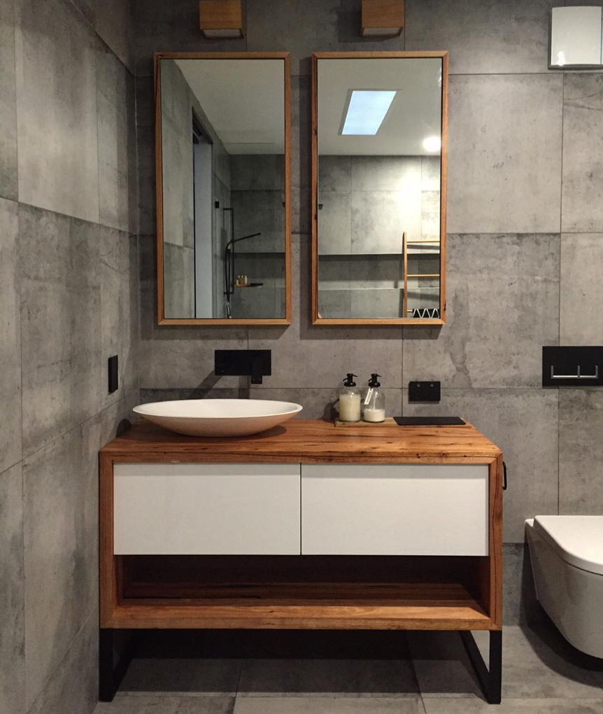 bathroom wraps. Recycled Messmate Vanity Wrap With Matching Dressed Timber Used As A Frame For The Mirror. Bathroom Wraps