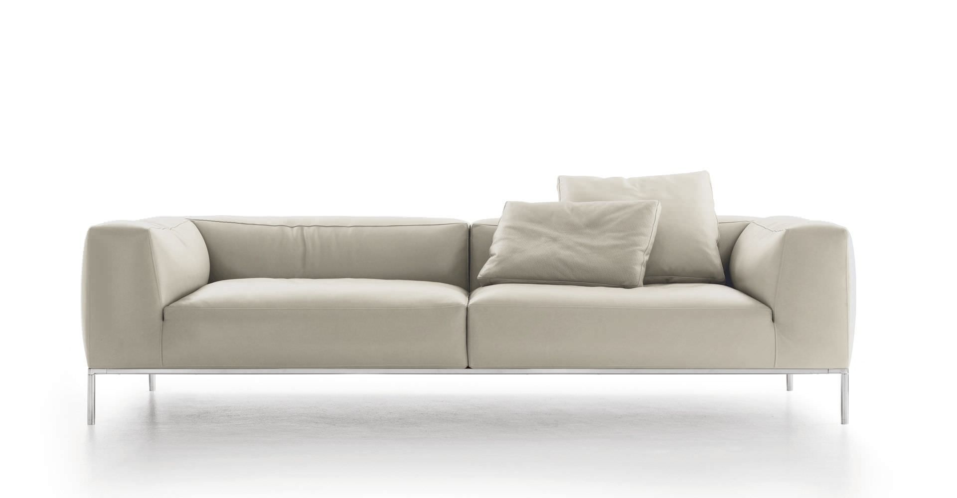 Contemporary sofa fabric leather by Antonio Citterio FRANK