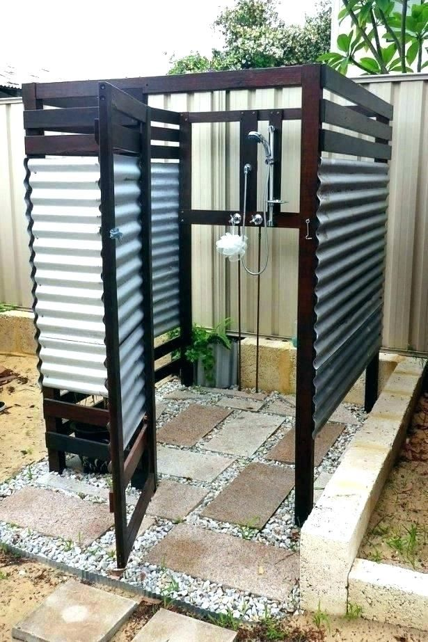 Outdoor Shower Enclosure Pool, Outdoor Bathroom Ideas