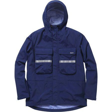 Supreme Hi-Vis Taped Seam Jacket (Indigo)