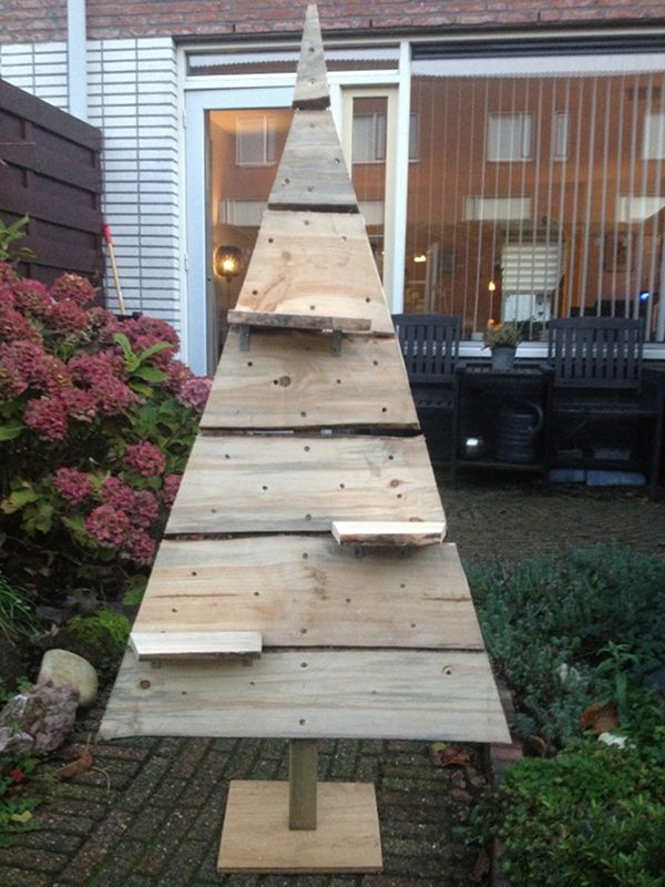 Zelf een houten kerstboom maken werkbeschrijving foto 39 s houten kerstbomen kerstbomen en kerst - Deco giet keuken ...
