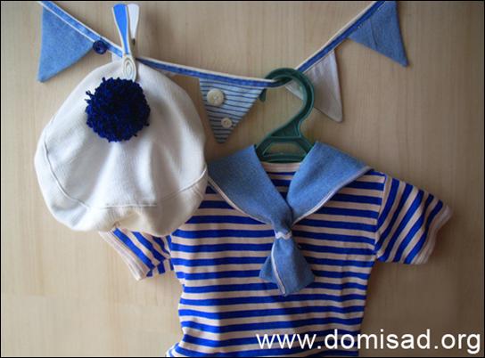 """Детский новогодний костюм """"Моряк"""" для мальчика своими ..."""
