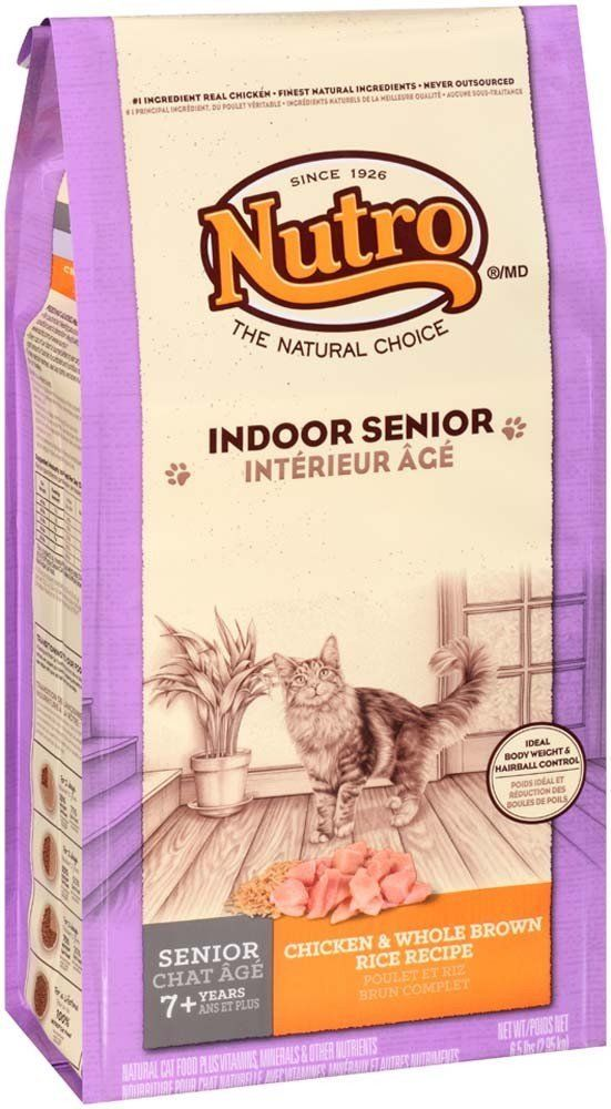 Nutro Indoor Senior Chicken And Whole Brown Rice Formula 6 5 Lb Review More Details Here Best Cat Food Best Cat Food Cat Food Chicken