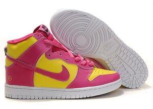 Cute Nike High Tops Girls Shoes Pink