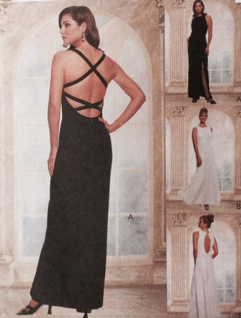 McCalls 9177 Misses Lined Formal Evening Dress Sewing Pattern