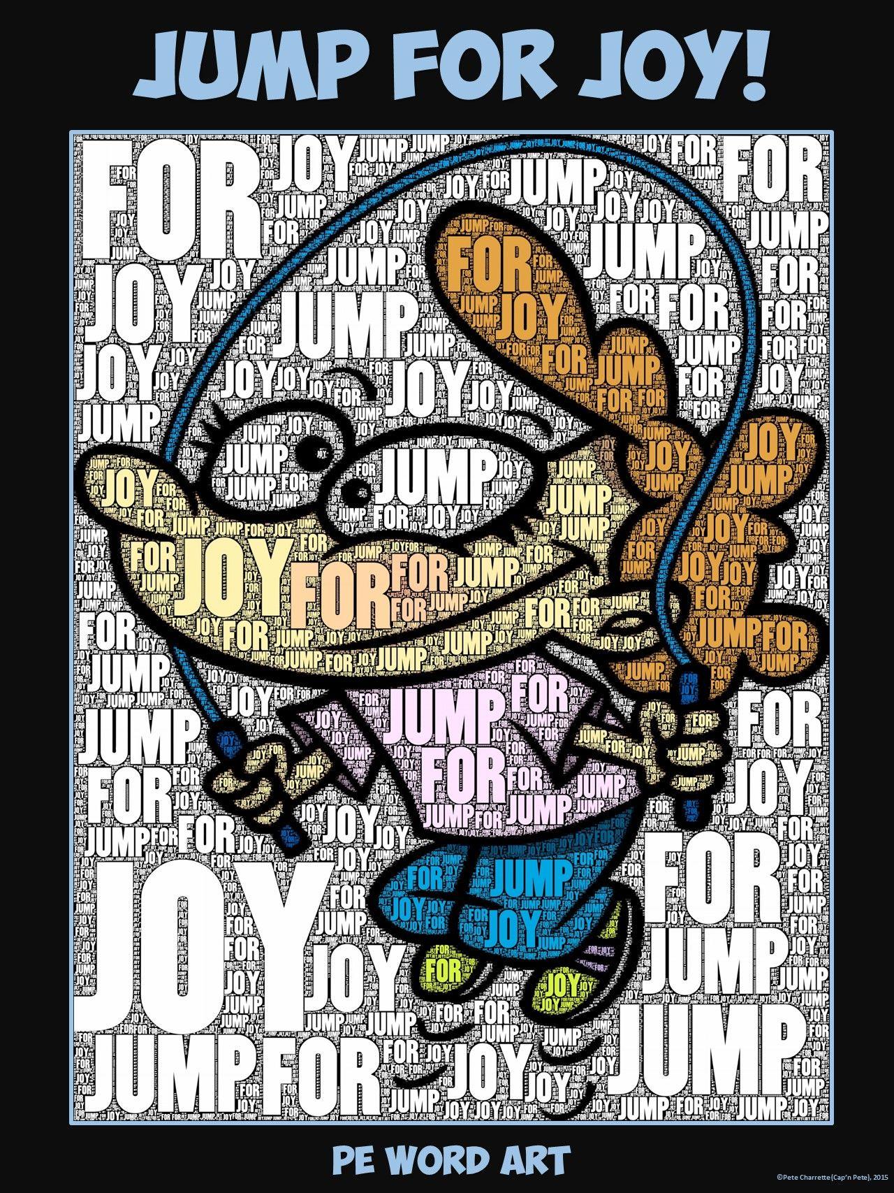 "PE Word Art Poster ""Jump for Joy"""