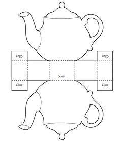 card box template generator - printable teacup template tea pot candy box templates