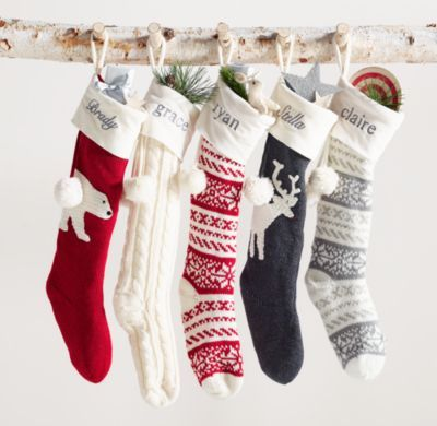 RH Baby & Child's Knit Stocking:Our knit stocking's relaxed shape ...