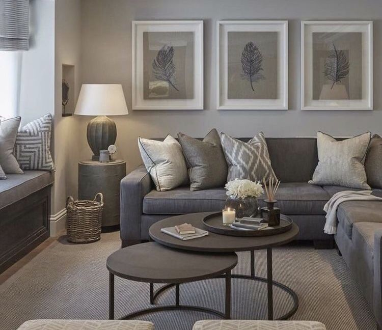 Living Room Design With Grey Sofa Adorable Pinlauren Marcsis On House Ideas  Pinterest  Living Rooms Decorating Design