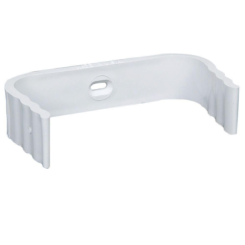 Amerimax Home Products 2 In X 3 In White Vinyl Downspout Clip M0634 30 Downspout White Vinyl Home Depot