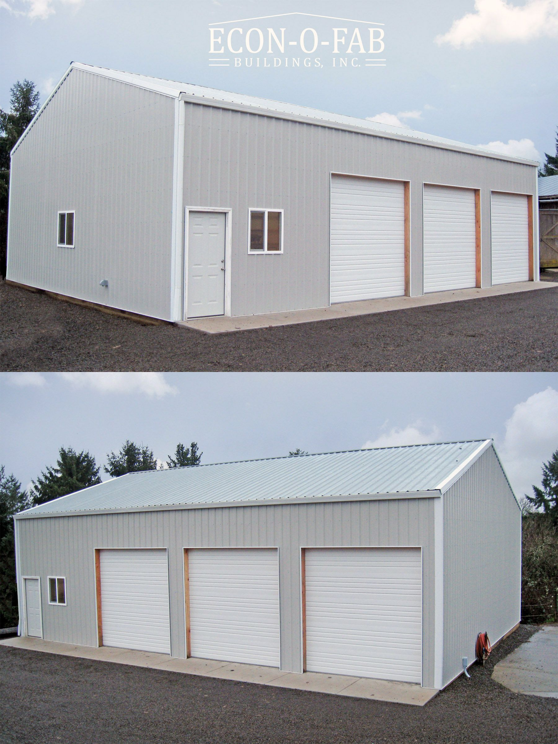 36 X 48 X 14 Pole Building In 2020 Metal Garage Buildings Pole Barn Garage Building A Pole Barn