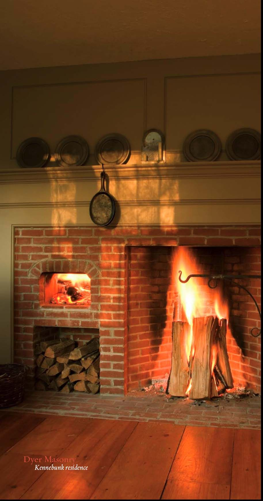 Cooking Fireplace in Maine by Dyer Masonry in Buckley