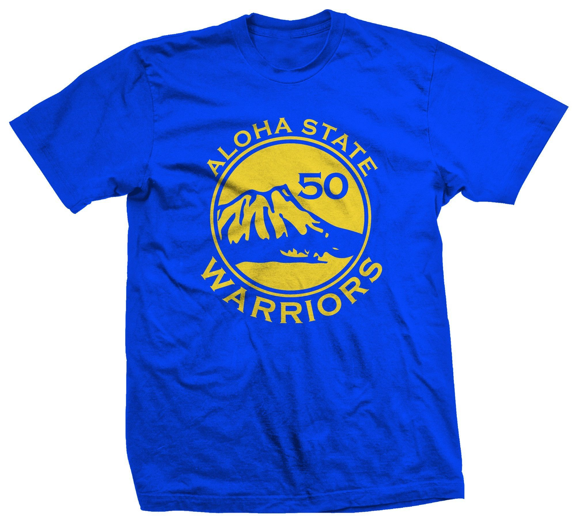 6c118c5a8ec 50th State of Mind Aloha State Warriors Mens T-Shirt - Leilanis Attic