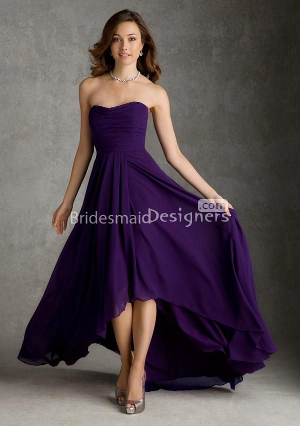 Long Dark Purple Bridesmaid Dresses - Ocodea.com
