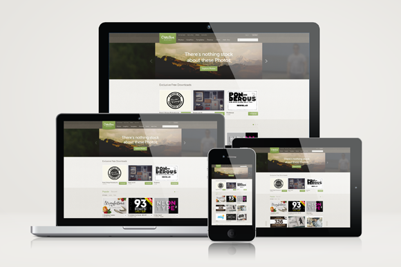 Responsive Website Mockup Templates | Creative, Photos and Products