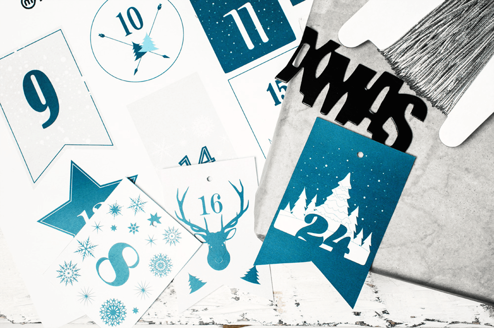 Adventskalender Zahlen 1 24 Drucken Calendar Pinterest
