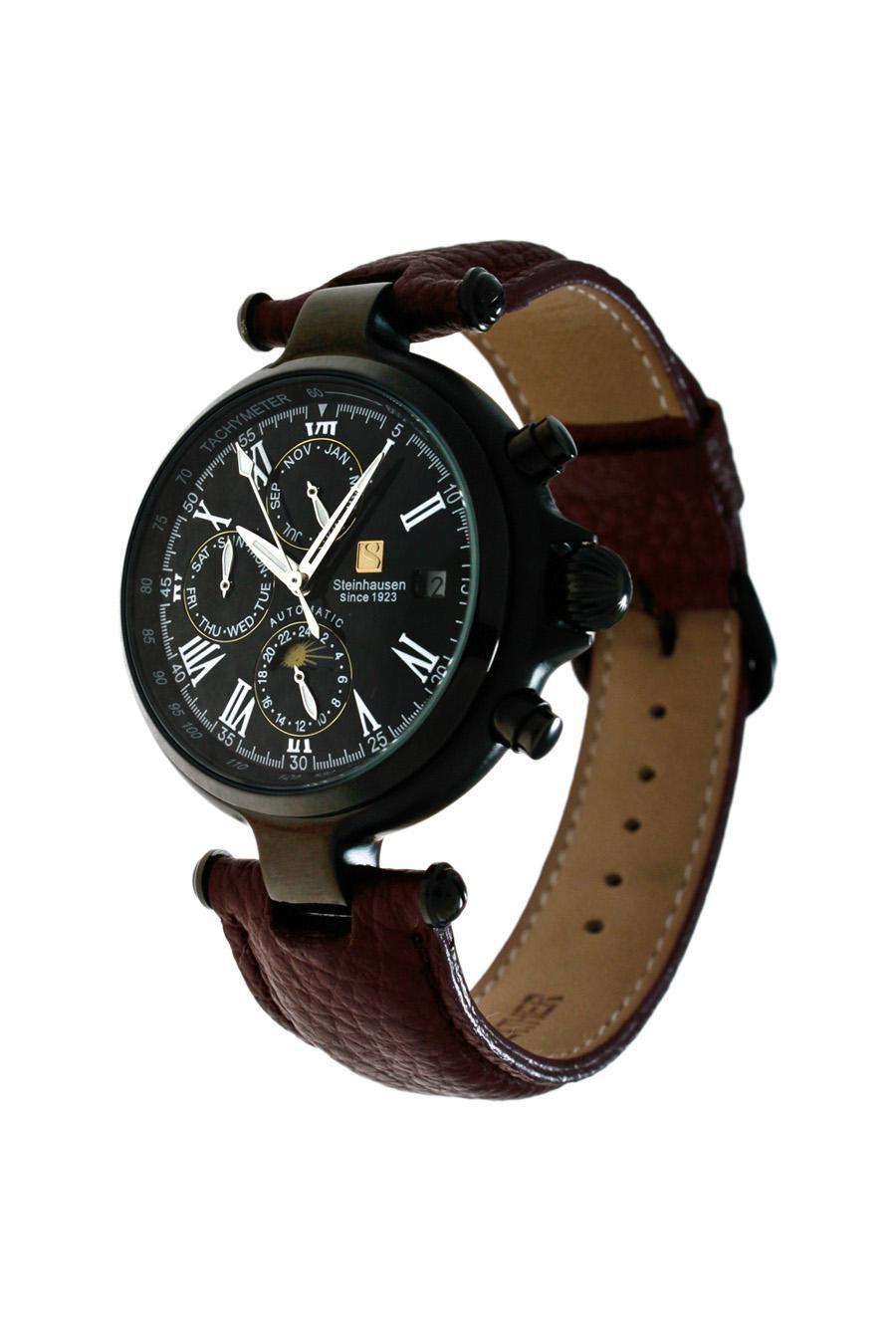 Steinhausen Classic Automatic Calendar Watch With Am/Pm Indicator #Watch