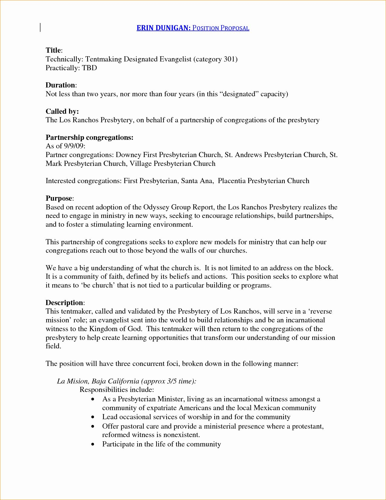 24 New Position Proposal Template In 2020 Proposal Templates