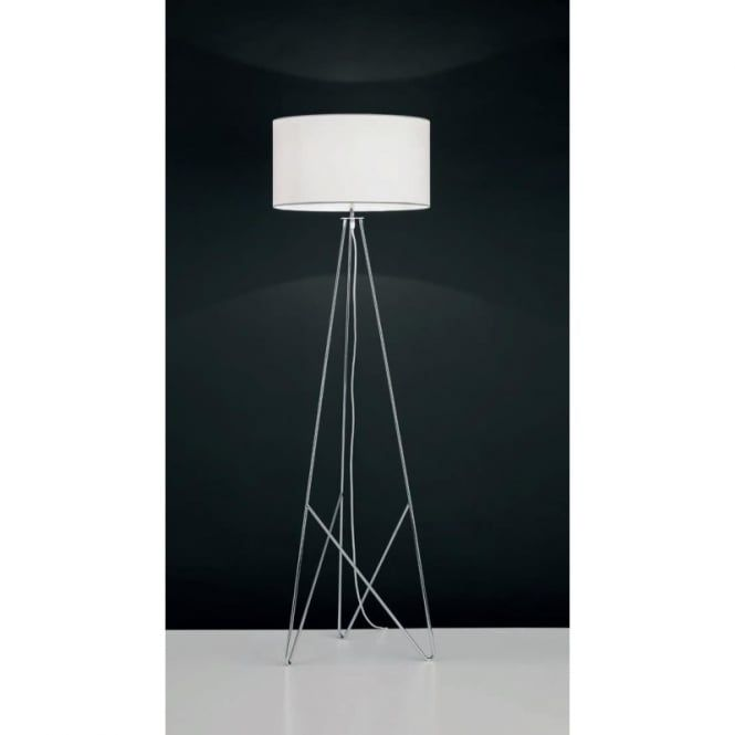 View All Table Lamps View All Eglo Table Lamps Eglo CAMPORALE Industrial  Drum Shade Floor Light