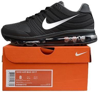 Nike Air Max 2017 Mens running shoes Black and silver