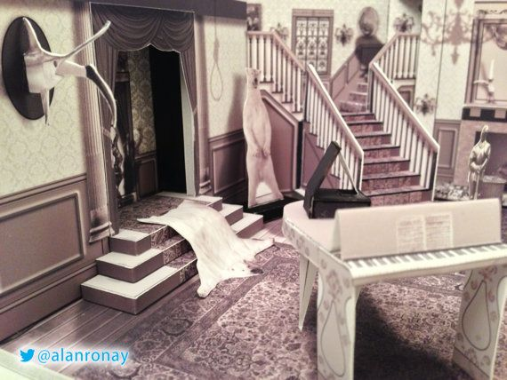 Series Scale Model 0001 Cemetery Lane Etsy Family Tv Series Addams Family House Family Tv