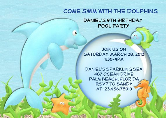 Dolphin fish pool party birthday invitation by 3peasprints on etsy dolphin fish pool party birthday invitation by 3peasprints on etsy 1800 filmwisefo Gallery