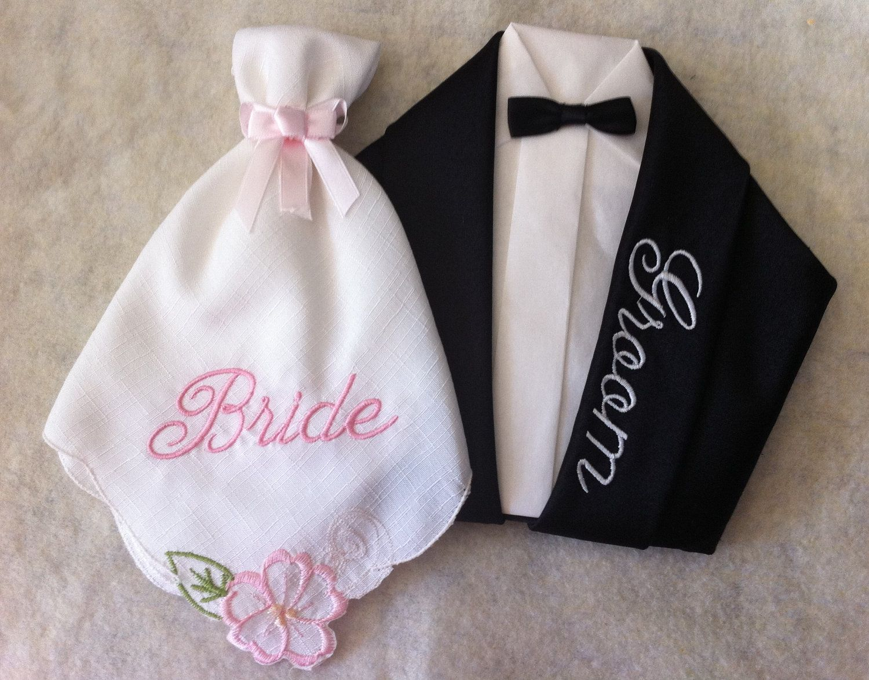 Bride And Groom Napkins Napkins Napkin Folding Bride