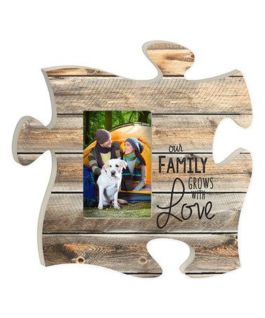 Look At This Zulilyfind Our Family Grows With Love Puzzle Frame