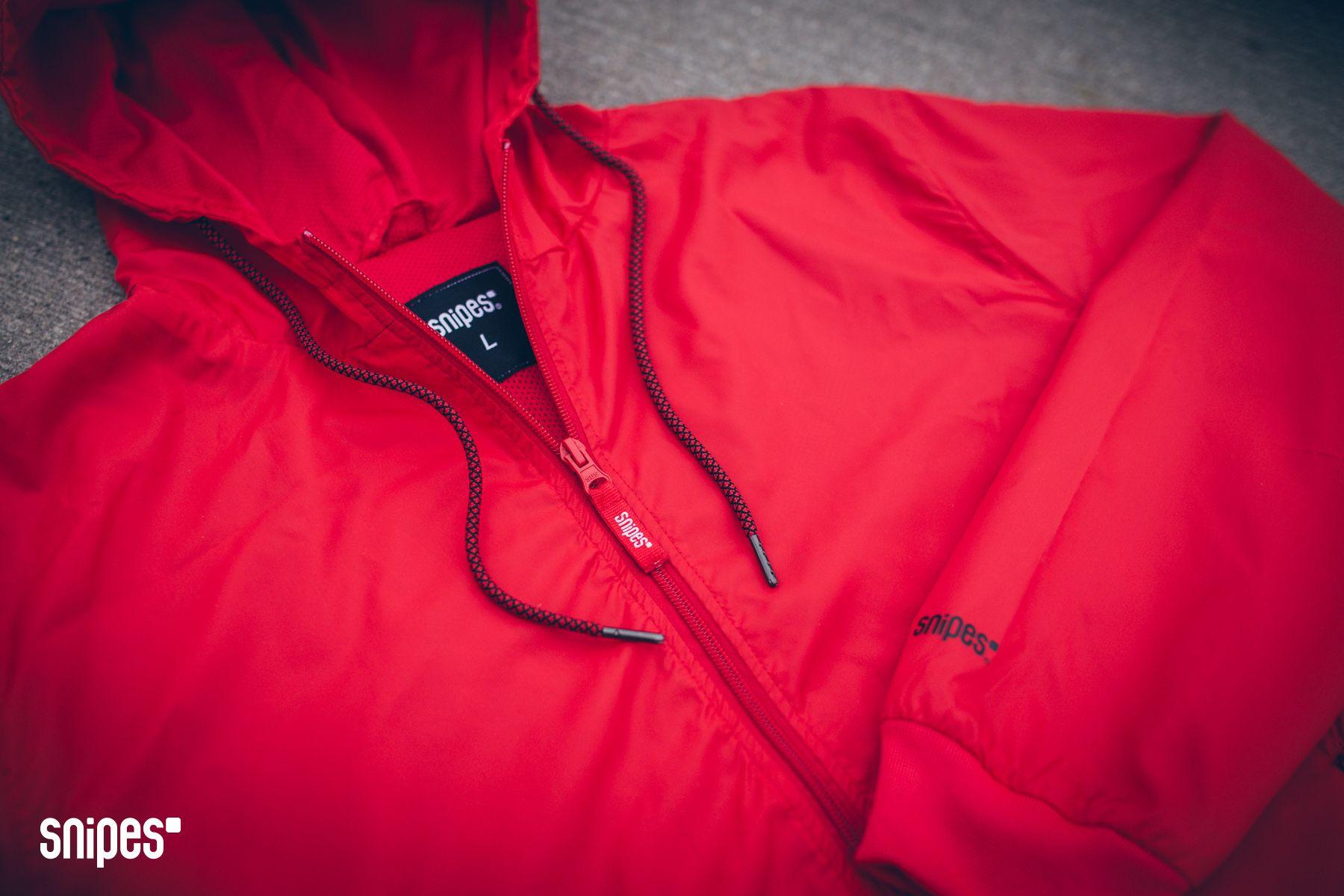 SNIPES Windbreaker #allredeverything #streetwear #red #redjacket