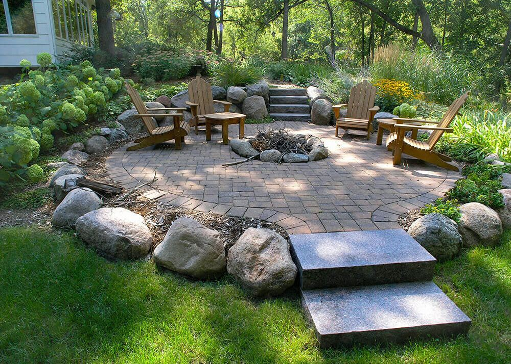 outdoor fireplaces firepits axel landscape in 2020 on backyard fire pit landscaping id=83113