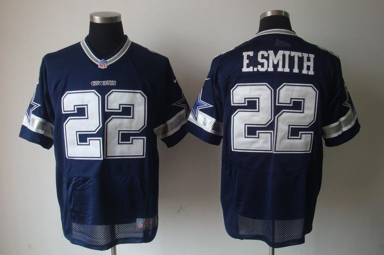 low priced e2ebe f621c Nike NFL Jerseys Dallas Cowboys Emmitt Smith #22 Blue ...