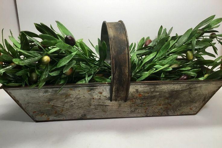 up-to-date Cost-Free Metal Rectangular Flower Basket | Galvanized Basket | Farmhouse